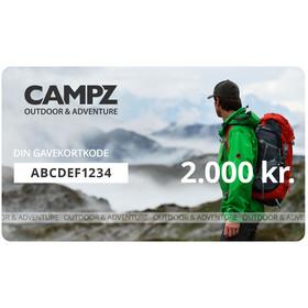 CAMPZ Gavekort, 2000 kr